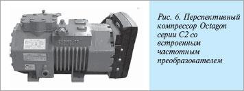 Получерметичный поршневой холодильный компрессор BITZER серии OCTAGON со встроенным частотным регулятором
