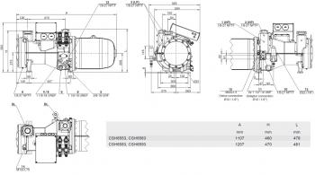 Полугерметичный компрессор Bitzer CSH 6563-60Y