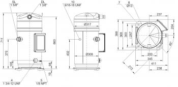Спиральный компрессор Bitzer OrbitGSD80421VA