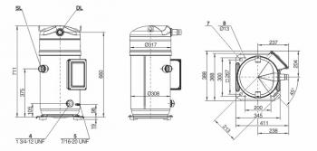 Спиральный компрессор Bitzer Orbit Boreal GSD80295VW