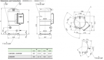 Спиральный компрессор Bitzer Orbit+ GSU60235VL