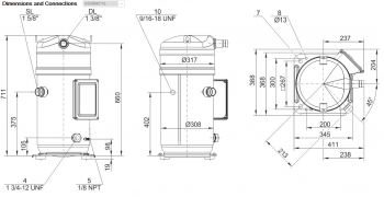 Спиральный компрессор Bitzer Orbit+ GSU80421VL