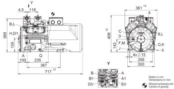 Полугерметичный компрессор Bock HAX44e/475-4