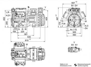 Полугерметичный компрессор Bock HGX66e/1340-4S