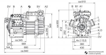 Полугерметичный компрессор Bock HGX88e/2400-4