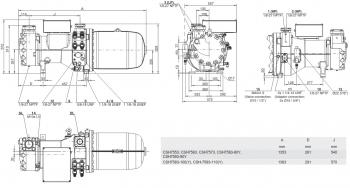 Полугерметичный компрессор Bitzer CSH7583-100Y