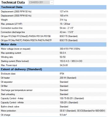 Полугерметичный винтовой Bitzer CSH6553-35Y
