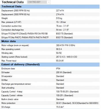 Полугерметичный компрессор Bitzer CSH7563-60Y