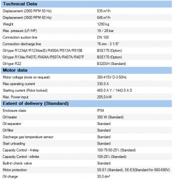 Полугерметичный компрессор Bitzer CSH9553-180Y