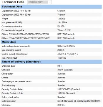 Полугерметичный компрессор Bitzer CSH9563-160Y