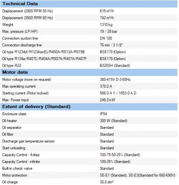 Полугерметичный компрессор Bitzer CSH9563-210Y