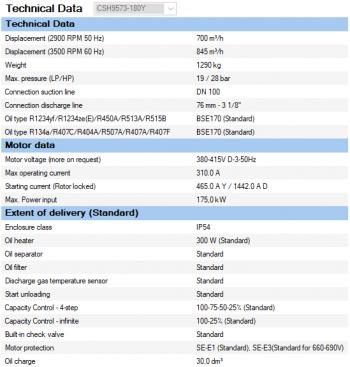 Полугерметичный компрессор Bitzer CSH9573-180Y