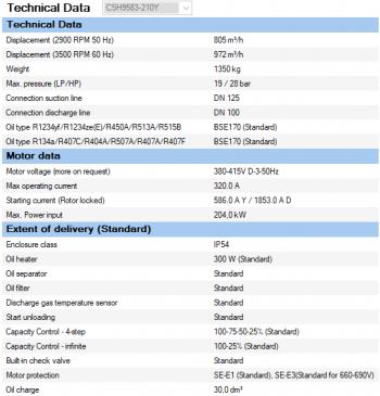 Полугерметичный компрессор Bitzer CSH9583-210Y