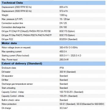 Полугерметичный компрессор Bitzer CSH9583-280Y