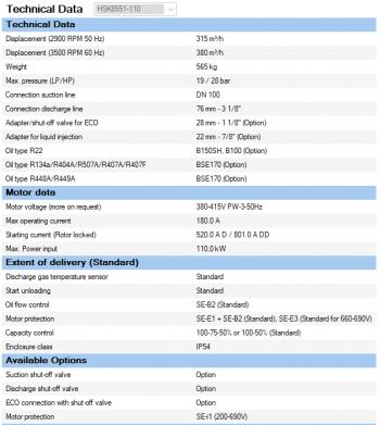 Полугерметичный компрессор Bitzer HSK8551-110