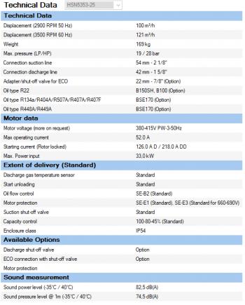 Полугерметичный компрессор Bitzer HSN5353-25