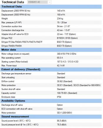 Полугерметичный компрессор Bitzer HSN6451-40