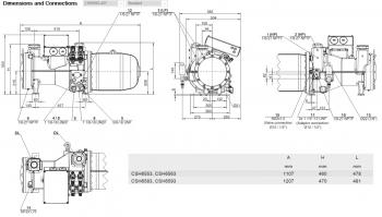 Полугерметичный винтовой Bitzer CSH6563-40Y