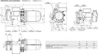Полугерметичный компрессор Bitzer CSH7583-80Y