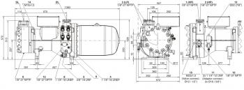 Полугерметичный компрессор Bitzer CSH8553-110Y