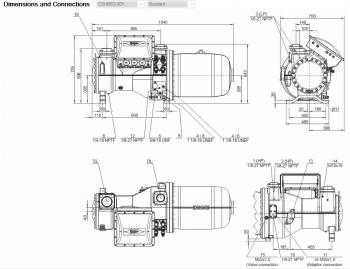 Полугерметичный компрессор Bitzer CSH8553-80Y