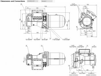 Полугерметичный компрессор Bitzer CSH8563-90Y