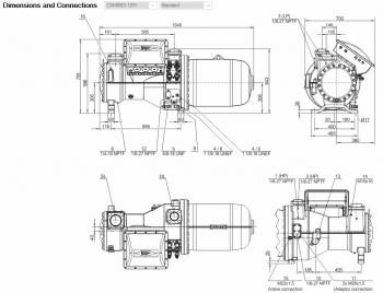 Полугерметичный компрессор Bitzer CSH8583-125Y