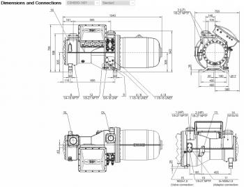 Полугерметичный компрессор Bitzer CSH8593-140Y