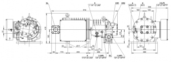 Полугерметичный компрессор Bitzer HSK5363-40