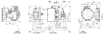 Полугерметичный компрессор Bitzer HSN5343-20
