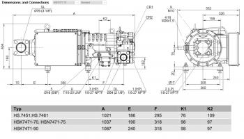 Полугерметичный компрессор Bitzer HSN7471-75