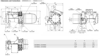 Полугерметичный компрессор Bitzer CSH6593-60Y